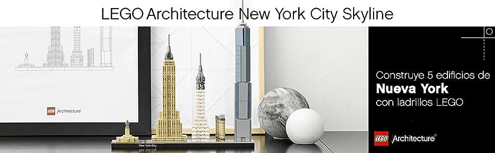 LEGO Architecture - New York, Set de Construcción de Nueva York con el Empire State y la Estatua de la Libertad, Regalo Coleccionable (21028): Amazon.es: Juguetes y juegos
