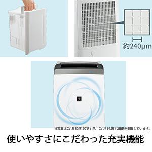 プラズマクラスター 除湿器 除湿機 充実機能 使いやすい