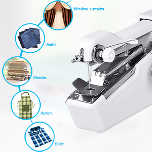 Mini Portable Cordless Hand-held Clothes Sewing Machine Home /& Travel Use NVT