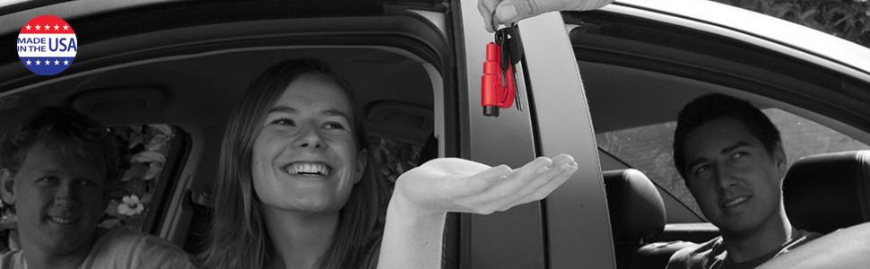 resqme the original keychain car escape tool, made in usa, black ...