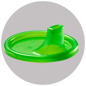 green sippy cup lid