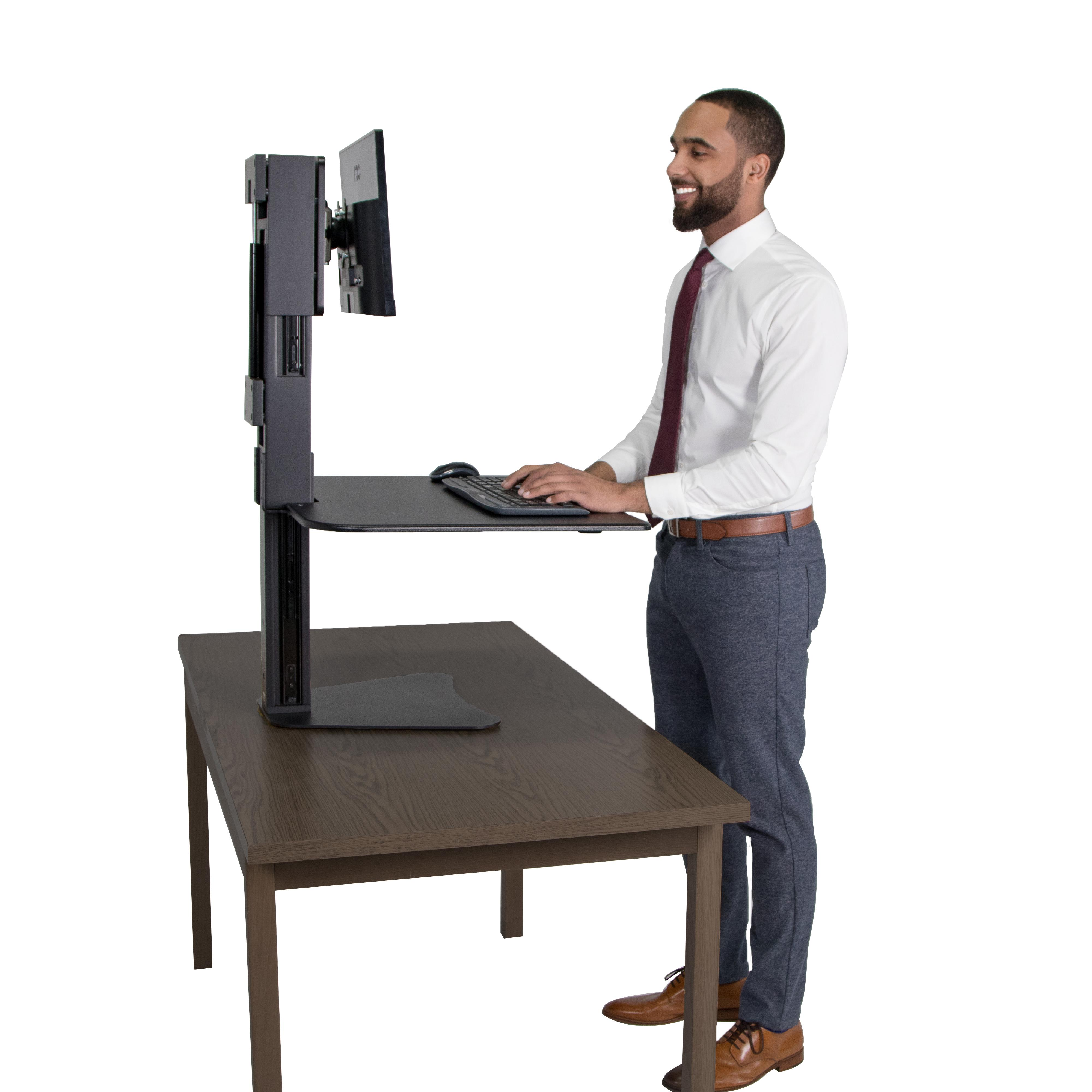 Victor Dc300 High Rise Collection Sit Stand Desk Converter