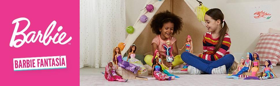 Ken tritón de Barbie Dreamtopia de unos 30 cm con una cola azul arcoíris y pelo rubio, para niñas