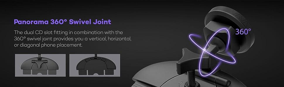 VAVA phone holder for car phone mount holder magnetic air vent cd slot dashboard cradle
