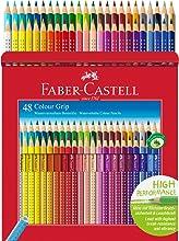 Faber-Castell 112449 - Estuche de cartón con 48 ecolápices Grip de colores, multicolor