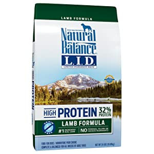 natural balance limited ingredient high protein dog food for active dogs, lamb dog food