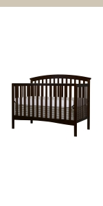 dream on me, cribs, full size, standard, 5 in 1 convertible, toddler bed, day bed, eden
