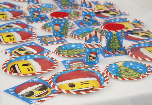 emoji christmas party supplies
