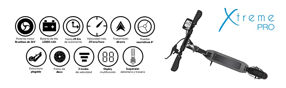 SmartGyro Xtreme PRO - Patinete Eléctrico, 8