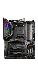 MSI X570 Motherboard; AMD Ryzen Processor; AM4 socket; Ryzen 9; MEG X570 ACE