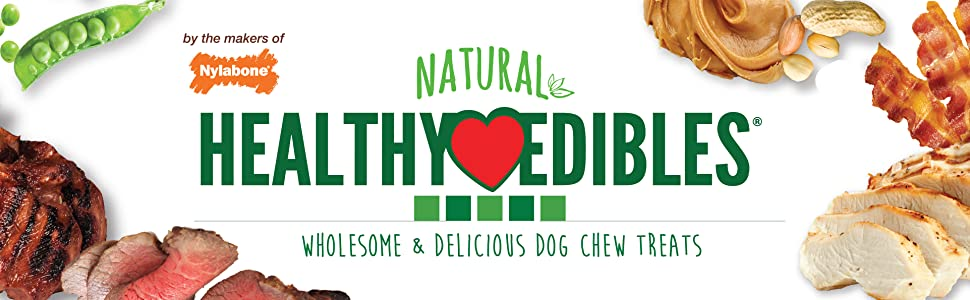 nylabone natural healthy edibles dog chew treats