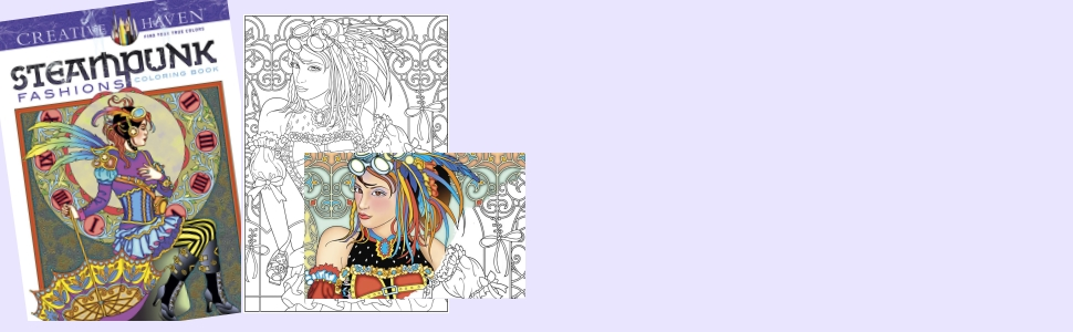 fashion adult coloring steampunk