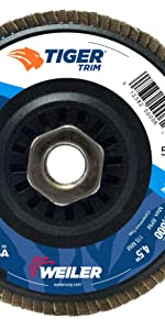 Weiler Tiger Trimmable Flap Disc
