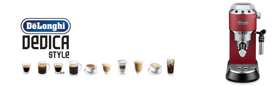 Delonghi Pump Coffee Machines Dedica Range