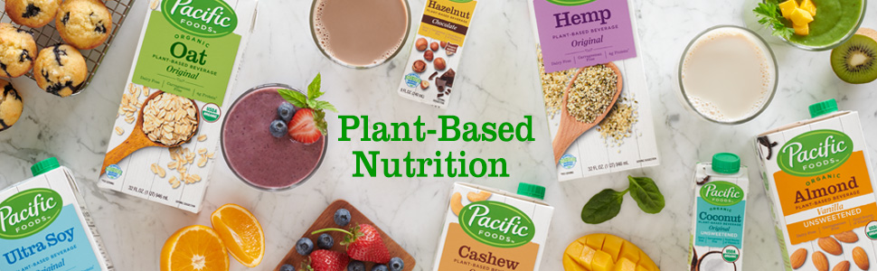 Pacific Foods Plant Based Beverages, Non-dairy Beverages, Oat Milk