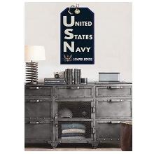 USN Semper Fortis Navy Hanging Tag Sign