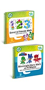 leapfrog 2 Book Combo Pack: Scout & Friends Math and Moonlight Hero Math With PJ Masks