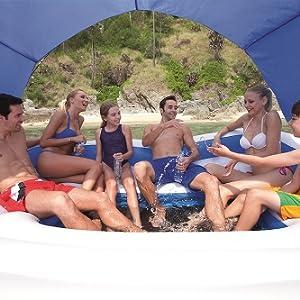 Bestway 43105 - Isla hinchable flotante, para 6 adultos 389x274 cm