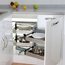 soft close kitchen storage, pull out kitchen corner storage