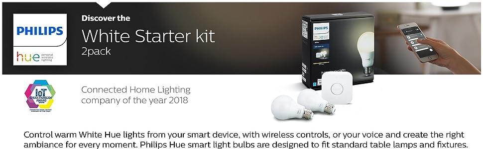 philips hue, white starter kit, smart home, phillips hue, smart bulb, hue lights, led light bulbs,