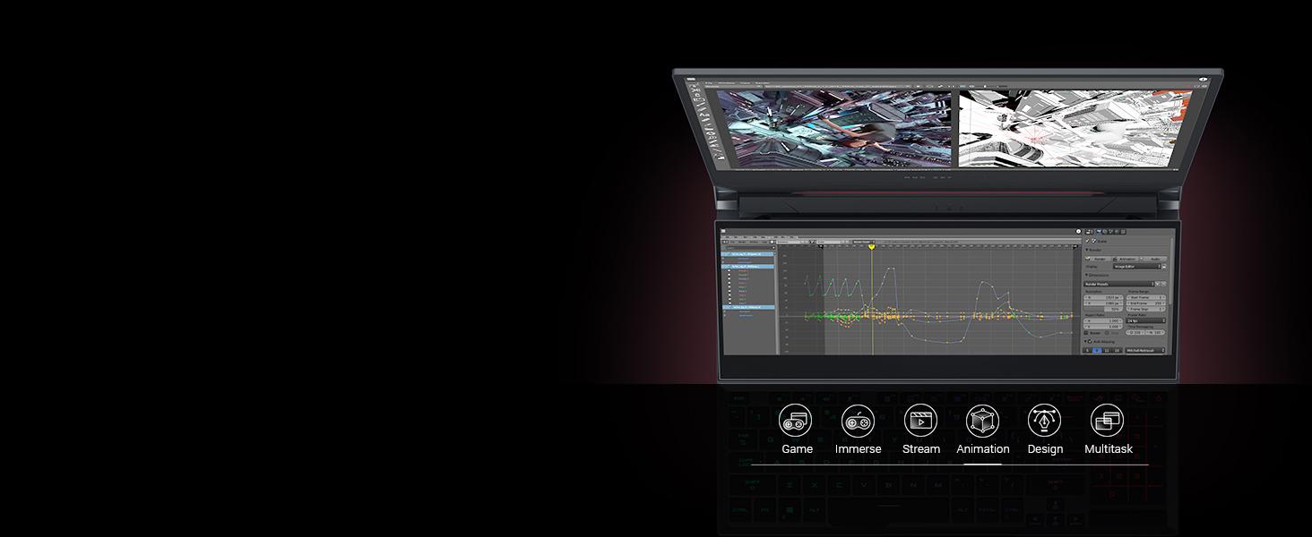 ScreenPad Plus: Animation