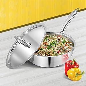 Triply, Stainless steel. Vinod , Fry Pan