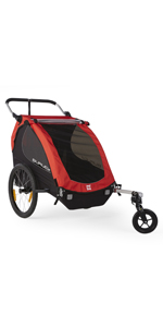 Burley honey bee double 2 kids bike trailer stroller