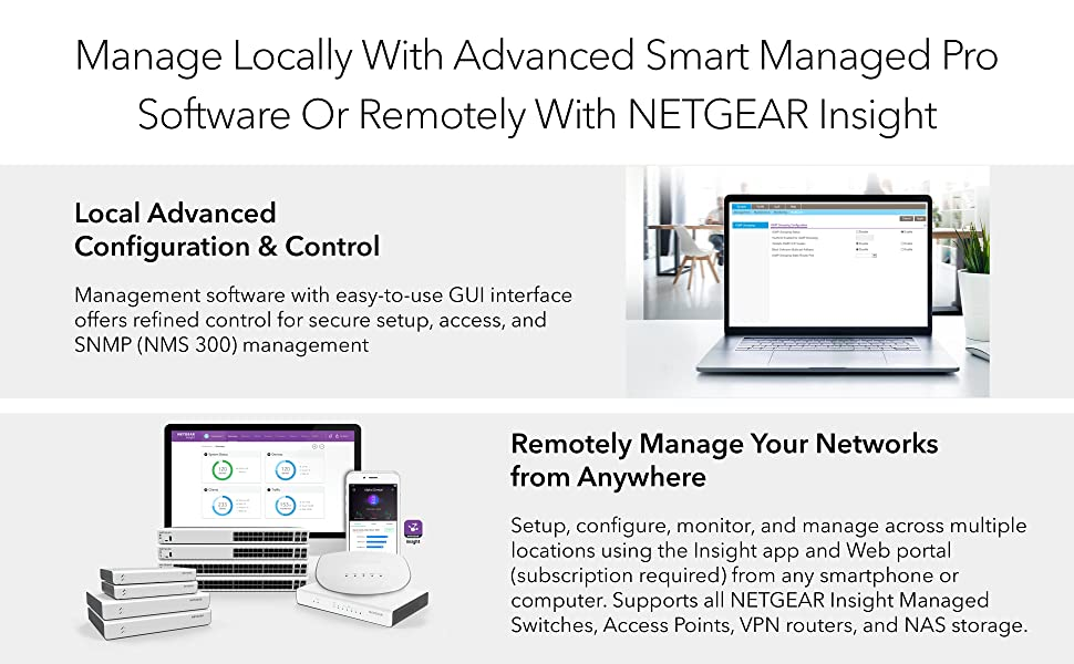 manage locally with advance smart managed