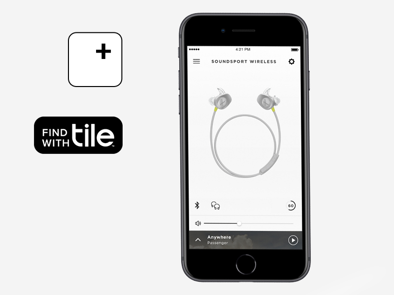 soundsport wrieless, sports headphones, tile app, headphones for the gym