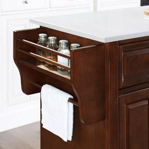 Lafayette  Kitchen Island spice rack and towel rack