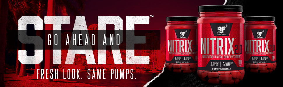 NITRIX 2.0 is a concentrated nitric oxide precursor by BSN