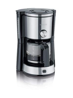 SEVERIN KA 4825 Cafetera Type Switch para filtros de Café Molido, 10 tazas incluye jarra de cristal, acero inoxidable/negro: Amazon.es: Hogar