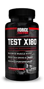 Test X180 increase total testosterone boost endurance improve perofrmance build muscle force factor