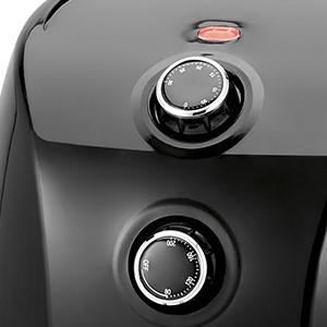 Clatronic FR 3698 H Freidora sin aceite por aire caliente, capacidad 1,5 L, termostato y temporizador, 900 W, Negro