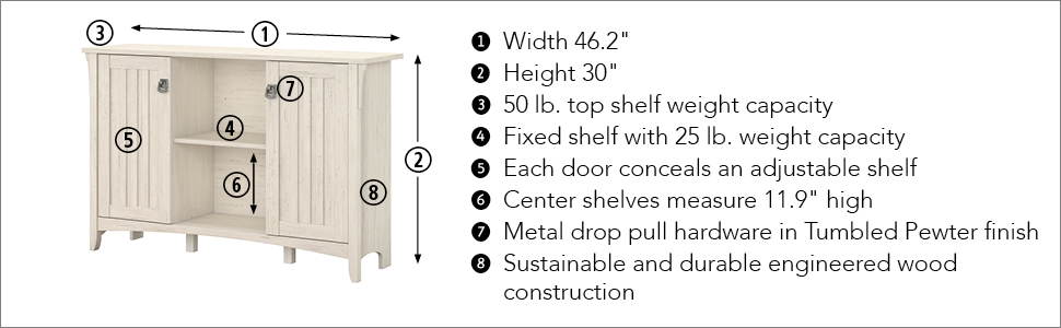 bush furniture,salinas,Entryway table,entryway bench,entryway organizer,entryway storage bench