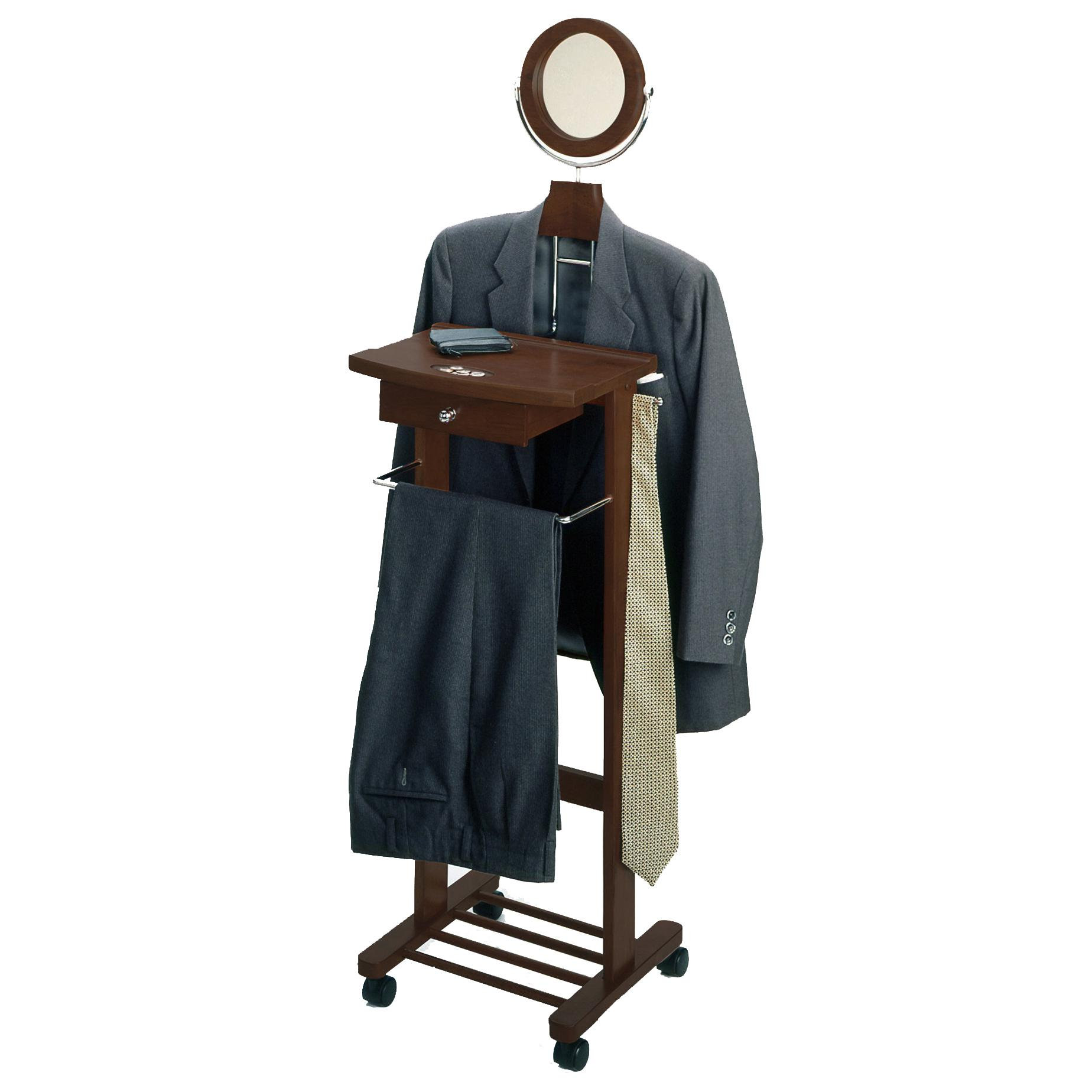 Amazon Com Winsome Wood Valet Stand Walnut Kitchen Amp Dining
