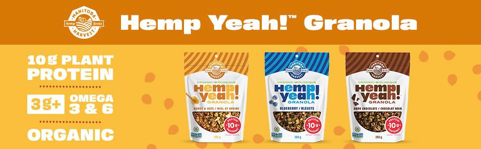 Manitoba Harvest Hemp Yeah high protein omega 3 organic non-gmo vegan kosher soy free