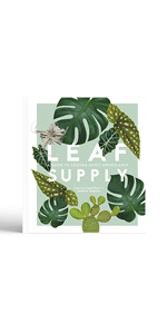 leaf supply book cover gifts for the gardener plants house plant guide gardening indoor plants green