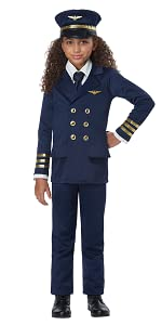 Pilot, Officer, Fire Fighter, Girl's Costume, Book Week, Airline, Captain, Scholastic Costume