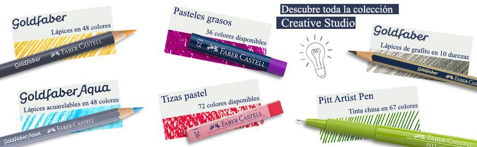 creative studio, faber-castell, pintar, dibujar, colorear, mandalas, tizas