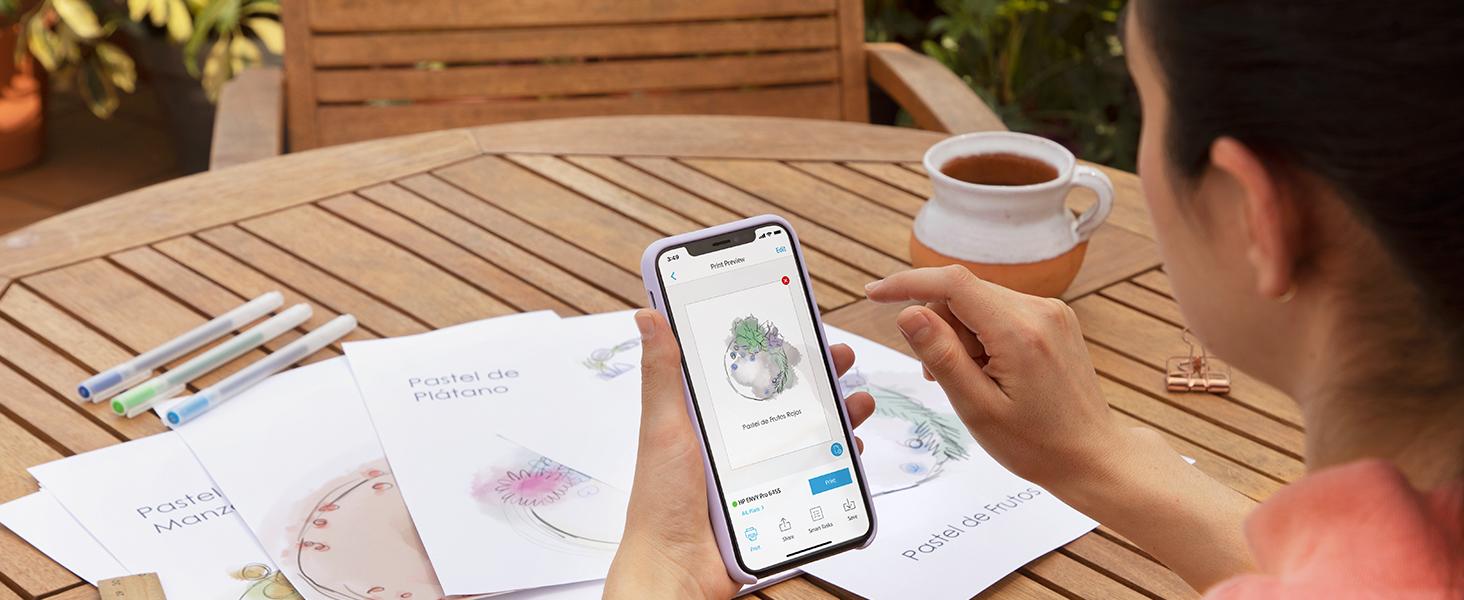 hp smart app print anywhere mobile printing smartphone