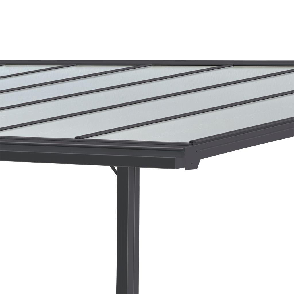 terrassen berdachung trend 312 x 250 cm anthrazitgrau ral 7016 garten. Black Bedroom Furniture Sets. Home Design Ideas