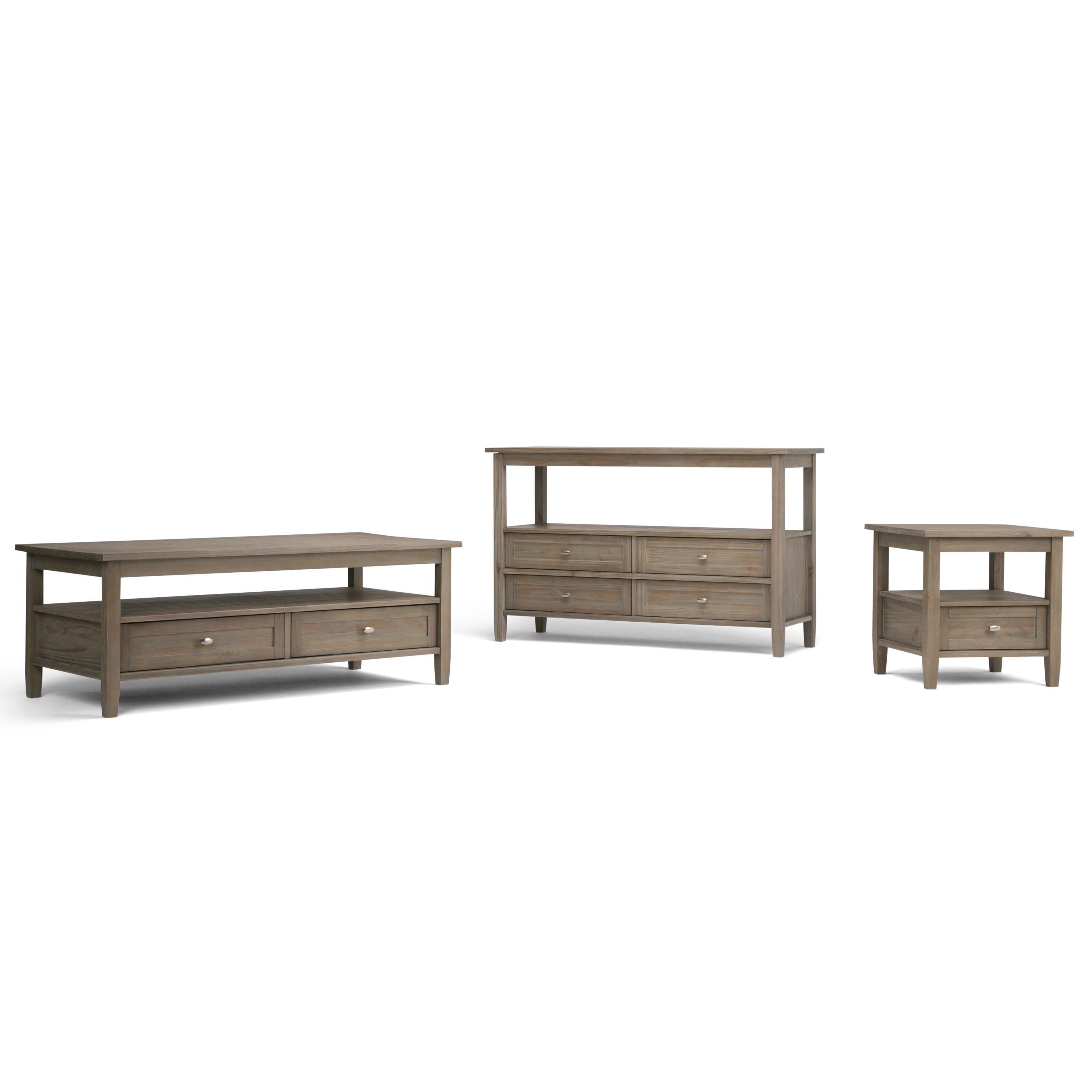 Amazon.com: Simpli Home AXWSH001-GR Warm Shaker Solid Wood