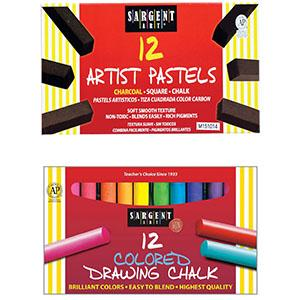24 Count Sargent Art 22-4134 Round Colored Drawing Chalk