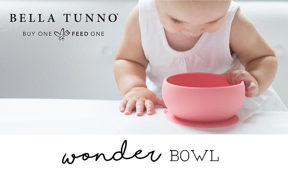 bella tunno, wonder bowl, suction plate, baby, toddler, dishwasher safe, microwave safe, curved bowl