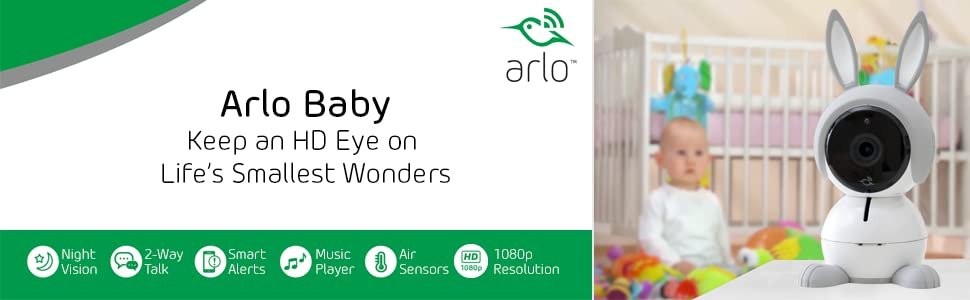 Amazon.com: Arlo Baby Smart HD - Set de vigilancia para bebé ...