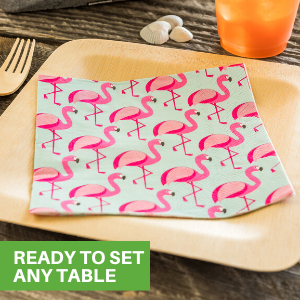 Easily set any table with our pre-folded decorative luncheon napkins.
