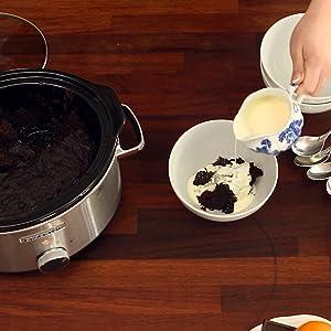 crockpot, volcan de chocolate, postres, coccion lenta