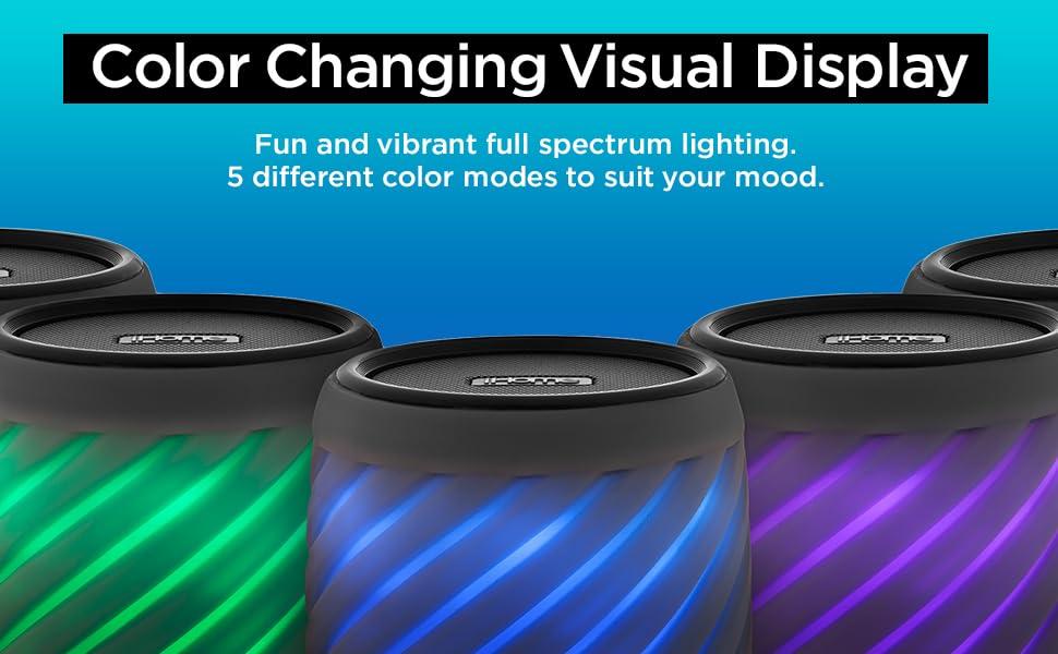 iHome Alexa Built-in Bluetooth Speaker Portable Wireless Color Changing Waterproof Rechargeable