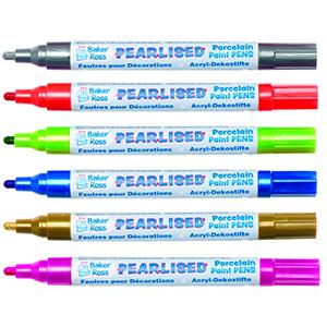 Pearlised Porcelain Paint Pens